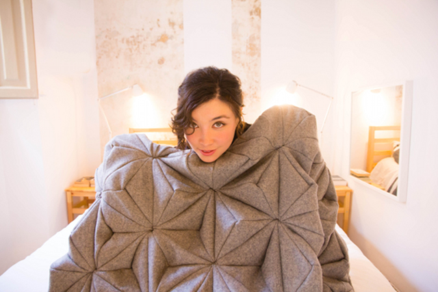 bloom blanket with Bianca