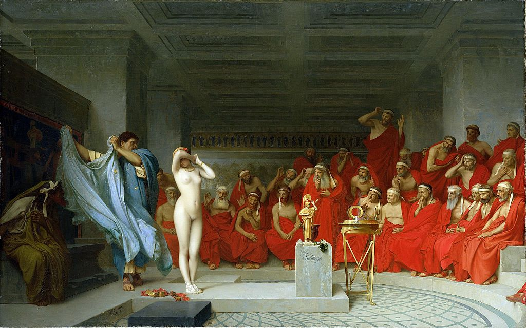 Jean-Léon_Gérôme,_Phryne_revealed_before_the_Areopagus_(1861)_-_01