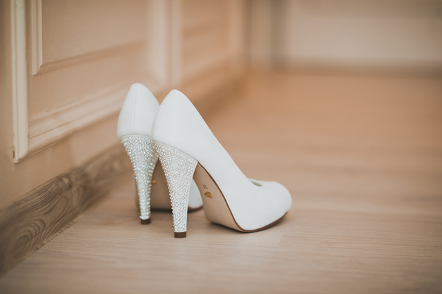 Shoes on a high heel 925.