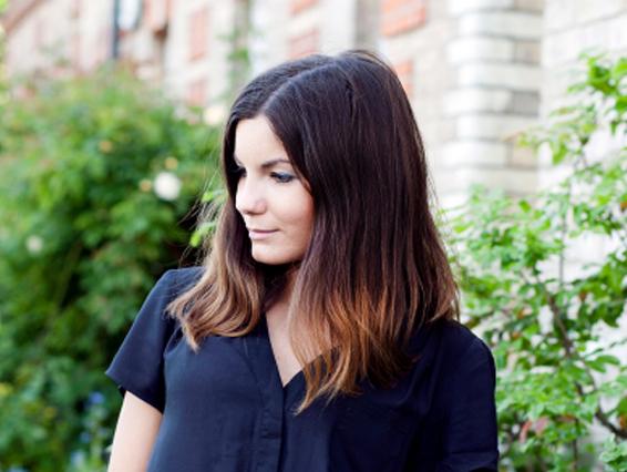 pretty girl in black shirt