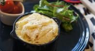 ホワイトソース不使用!ヘルシーな豆乳で作る「ジャガイモのグラタン風」