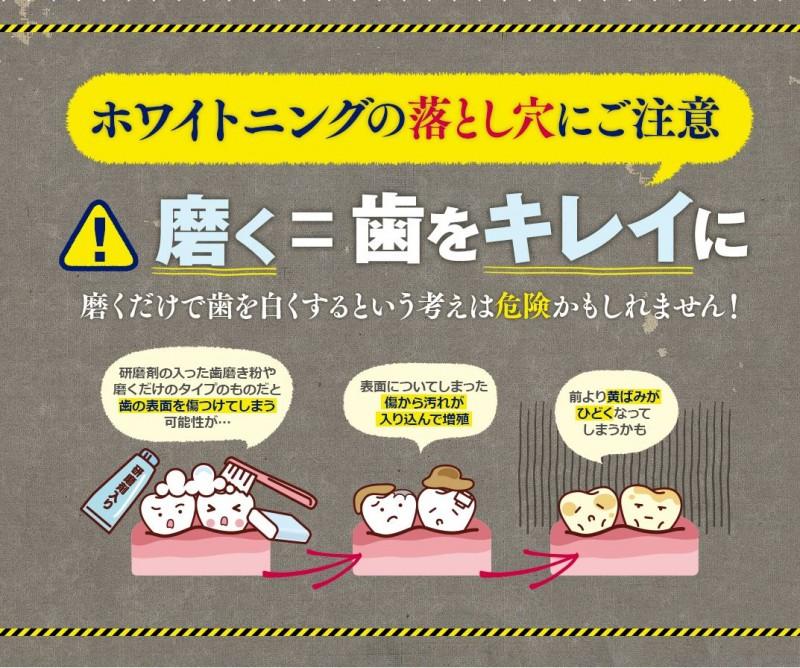 歯を白くする歯磨き粉 副作用