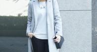 暗い冬ファッションに飽きたら…?軽やかな「淡色コート」で気分転換!